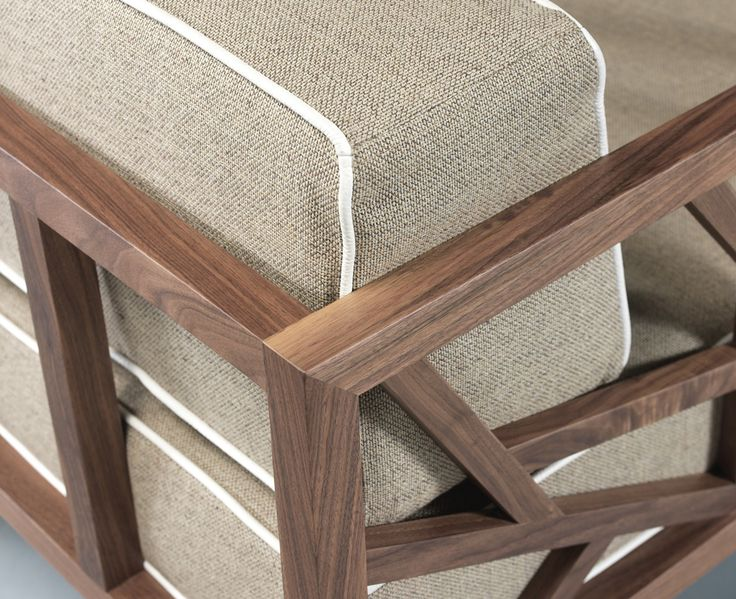 TREE lounge chair detail now in walnut. For a warmer Autumn. #solid #walnut #oak #warm #cosy #design #wood #design #wewood #tree #lounge #chair