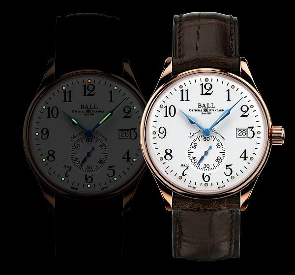 """BALL Watch Company Marks Adoption Of Standard Time With New Trainmaster Watch by Patrick Kansa - Today on aBlogtoWatch.com """"In addition to their fantastic sport watches, Ball Watches makes some cool dress pieces as well. The new Trainmaster Standard Time is an excellent example and comes with a very reasonable price in 18k rose gold. So why """"Standard Time?"""" Today, we take our synchronized time for granted. Prior to 1883 however, that was something that didn't exist..."""""""