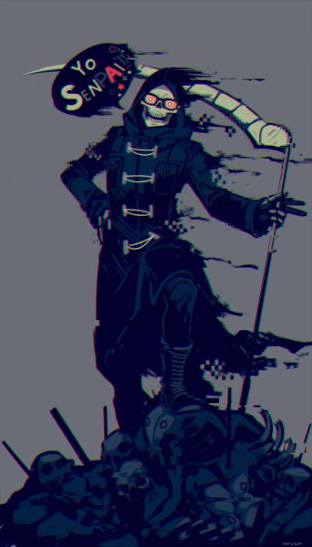 I doodled Uncle Death from Let It Die last night o/