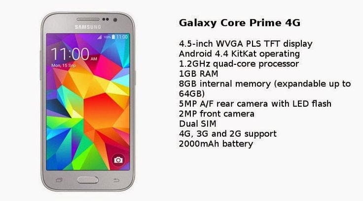 Latest Samsung Phones in india: Samsung Galaxy Core Prime 4G