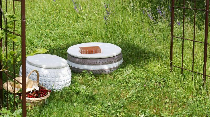 tuto fabriquer un pouf avec un pneu recycl m6 brico recup pinterest pouf pneu pneu. Black Bedroom Furniture Sets. Home Design Ideas