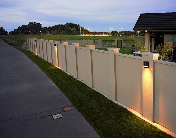 Boundary wall lighting can do wonders for the aesthetic of your property - especially at twilight!