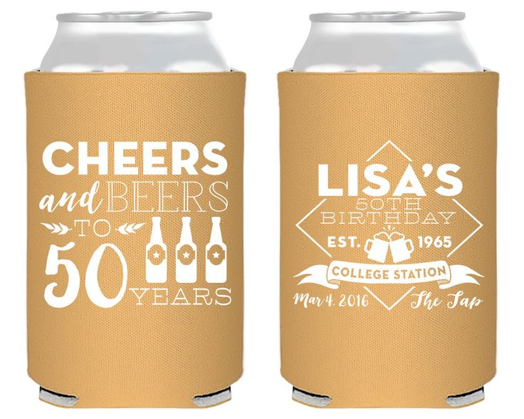 New to SipHipHooray on Etsy: 50th Birthday Cheers to 50 Years Party Favors Birthday Party Favors Custom Party Favors Personalized Party Favor Cheers and Beers 1406 (75.00 USD)