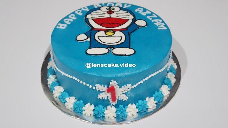How to Make Birthday Cake Doraemon Easy - Cara Membuat Kue Ulang Tahun Doraemon Yang Mudah
