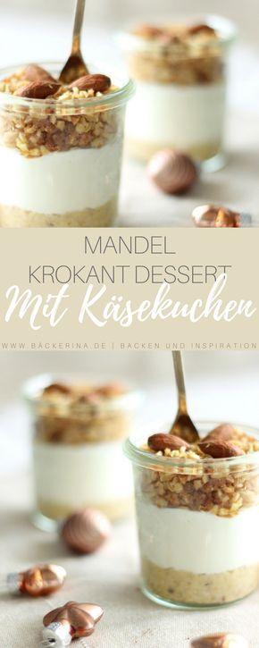 No bake Cheesecake im Glas – Mandeln & Krokant