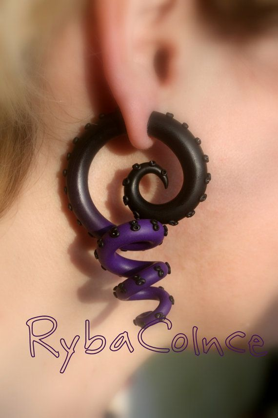 These earrings are made only for normally pierced ears. Polymer clay makes earrings light and comfortable but sturdy and reliable. This pair of faux