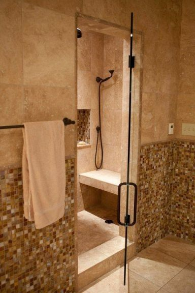 Gorgeous steam shower in Spanish Revival bathroomShowers, Gorgeous Steam, Steam Shower, Spanish Revival, Dreams House, Tile Ideas, Home Decor, Bathroom Ideas, Revival Bathroom