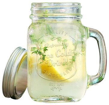 Ice Cold Mason Jar Drinking Glasses - rustic - Cups And Glassware - Classic Hostess