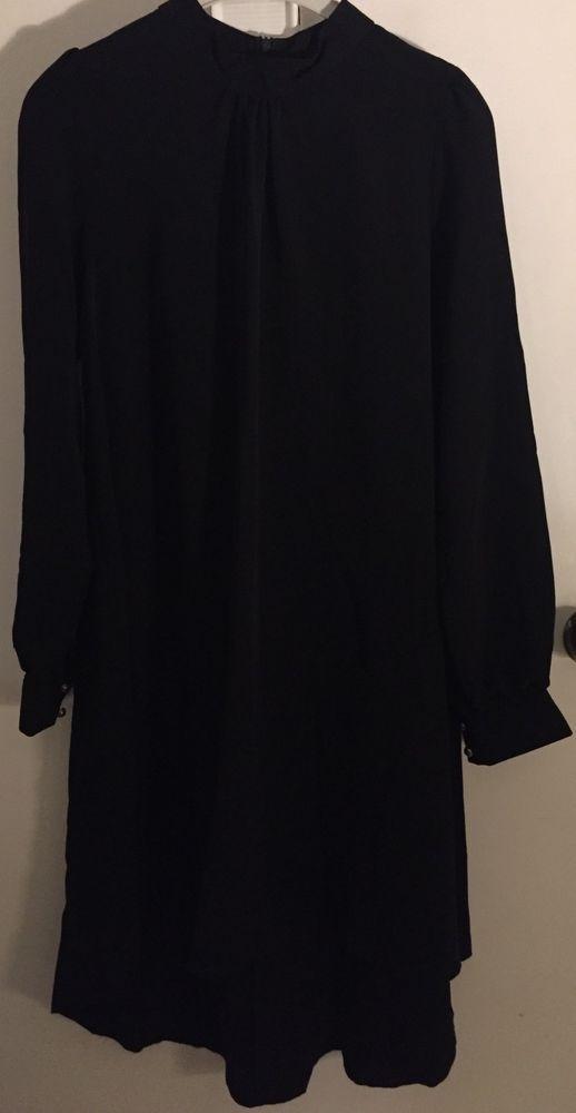 Islamic Women Tunic BLACK Long Sleeve Blouse TOP MUSLIM DRESS TURKEY #DIALA #TunicDRESS