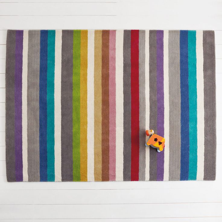 We can't promise any pots of gold with this rainbow rug, but it looks so beautiful you won't care?