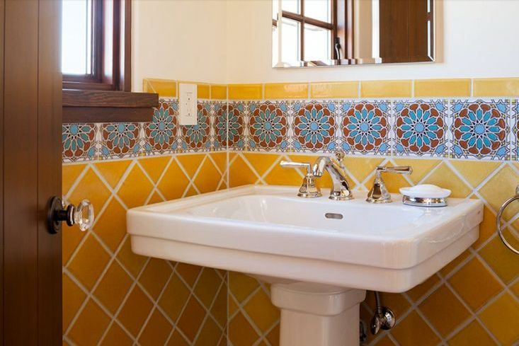 1000 images about mission revival bathroom on pinterest for Spanish revival tile