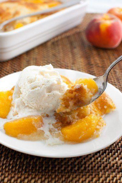 Персиковый коблер. Коблер - это фруктовый пирог очень простой в приготовлении и сказочно вкусный. ...
