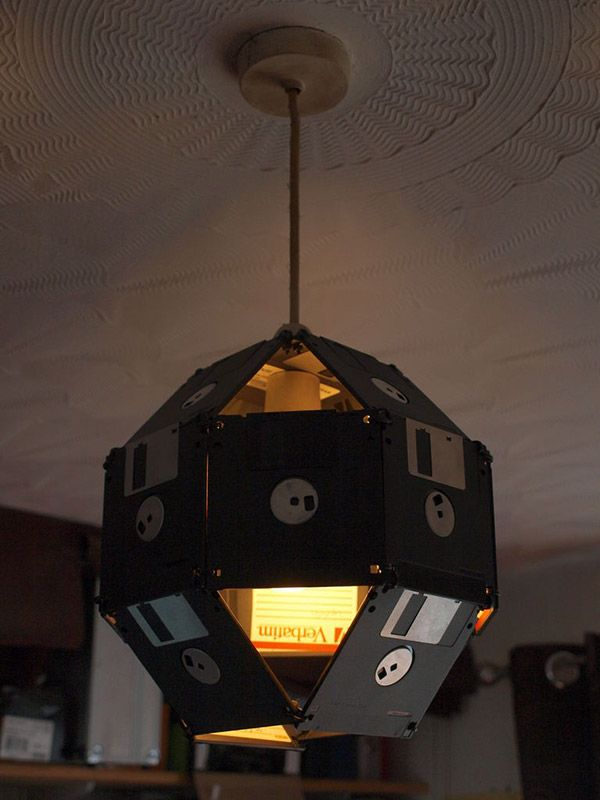 floppy office. floppy disk lampshade what drunk geeks wear on their heads office d