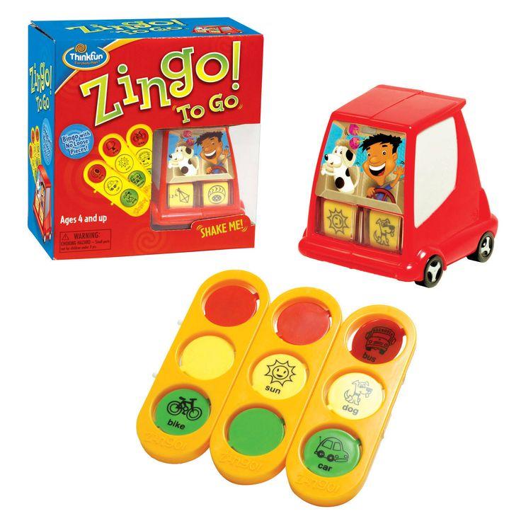Joc Zingo! To Go - Thinkfun -  - O minunata calatorie in lumea jocului de Bingo. Ia cu tine acest amuzant Zingo! Si distractia va incepe. Tot ce va place la jo