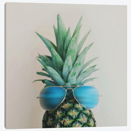 Pineapple In Paradise Canvas Print #CVA60} by Chelsea Victoria Art Print