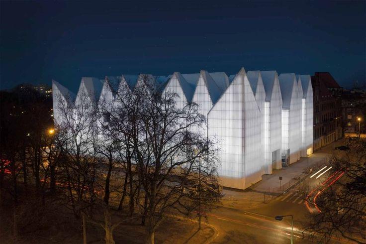 Oświetlenie gmachu Filharmonii Szczecińskiej