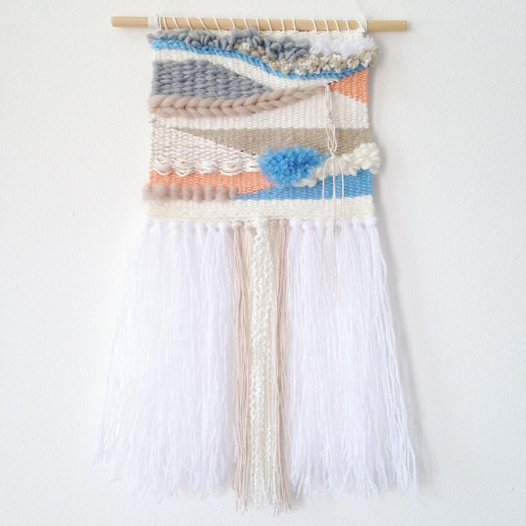 """36 Likes, 7 Comments - weaving • woven • macrame (@etalasecatchy) on Instagram: """"Woven Wall Hangings by etalasecatchy designs Size 17,5 cm x 35 cm READY STOCK 1 PCS IDR 325,000…"""""""