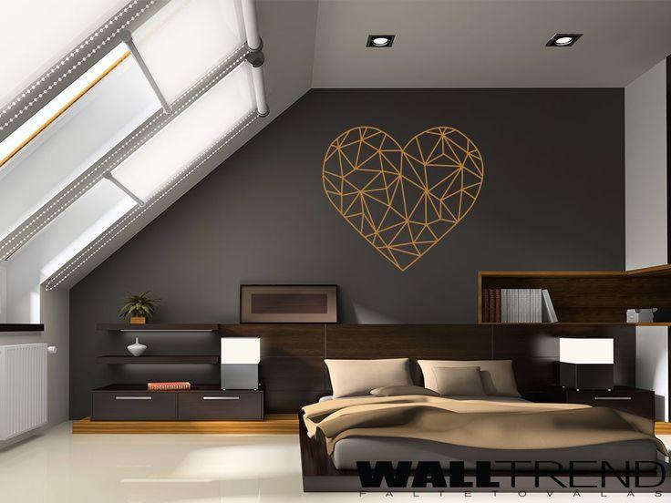 W 1225 Geometriai szív faltetoválás - falmatrica - WALLtrend - faltetoválás, falmatrica, faldekoráció