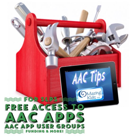 {AAC Tips} How SLPs can get FREE access to AAC apps, AAC app user groups, funding options & more!