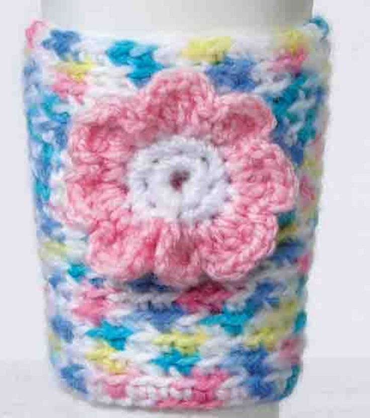 Coffee Cup Cozy-free crochet pattern Crochet~washcloths ...