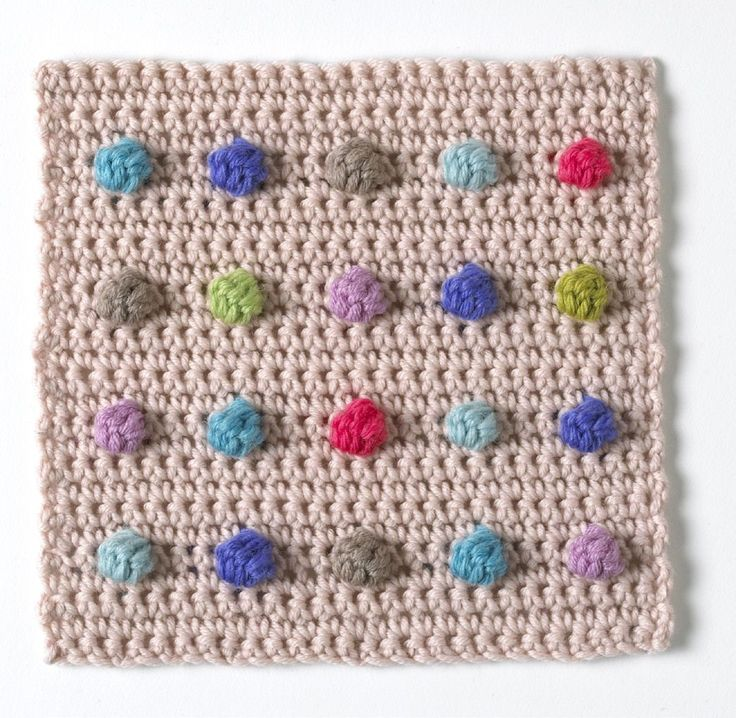 Learn how to crochet a bobble with this handy step-by-step guide from A Compendium of Crochet Techniques by Jan Eaton.