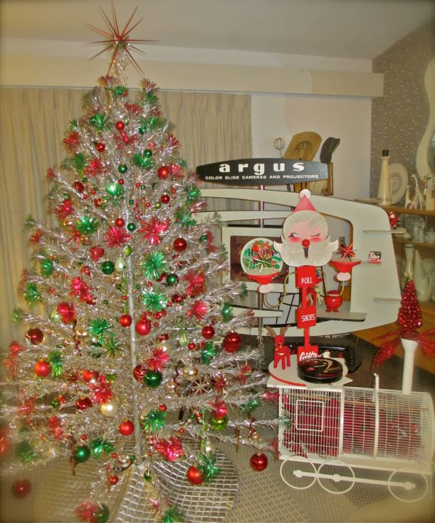 Árvore de Natal de alumínio Vintage