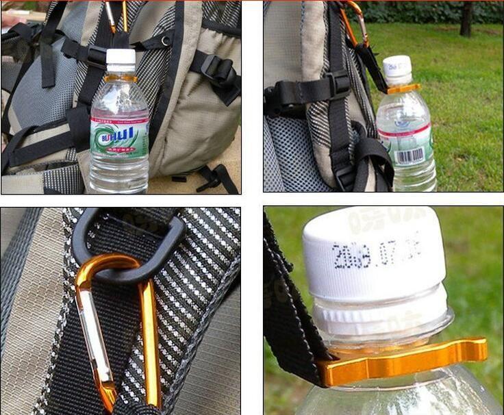 Frete grátis 1 pc camping Mosquetão Garrafa de Água Buckle Gancho Holder Clip Para Camping Caminhadas sobrevivência ferramentas de Viagem #1219 B1