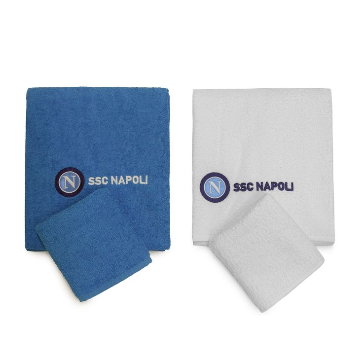 Set asciugamani SSC Napoli 1+1 viso e ospite Spugna di cotone http://www.carillobiancheria.it/set-asciugamani-ssc-napoli-1-1-viso-e-ospite-spugna-di-cotone-n792.html