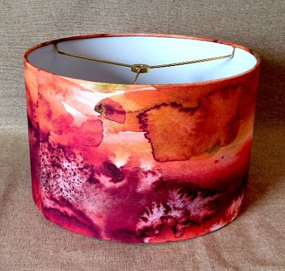 JoDesignCoHandmade Watercolor Drum Lamp Shade