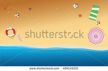 Summer beach background with beach element