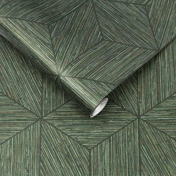 Grasweefsel behang Grasscloth van Graham & Brown Exclusive