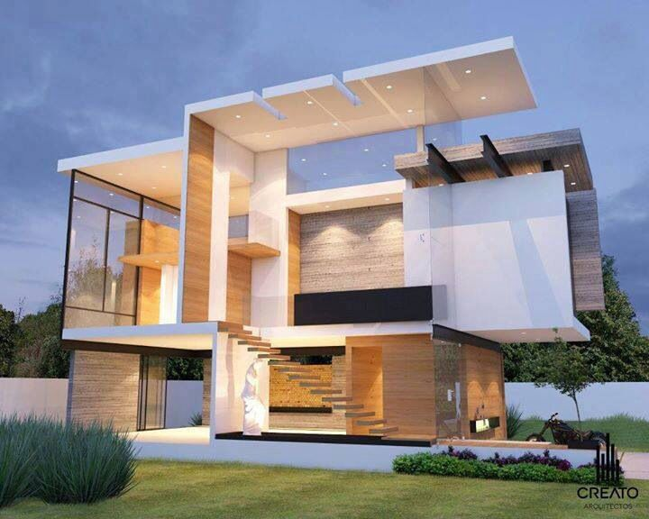 Modern Architecture Residential brasil sustainable four level home in brazil exhibiting a bold