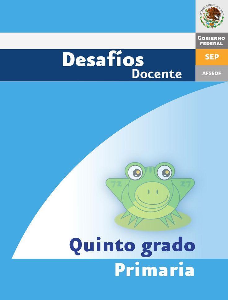 Desafios matematicos docente 5º quinto grado primaria por GINES CIUDAD REAL
