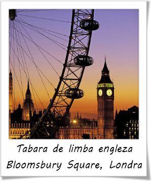 Tabara de limba engleza in centrul Londrei