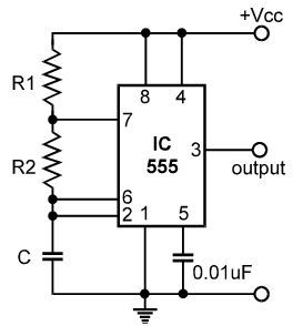 The IC has timing from micro seconds through hours, monostable and Astable operation, adjustable duty cycle, ability to operate from a wide range of supply voltages, output compatible with CMOS, DTL and TTL (when used with appropriate supply voltage), and many more…