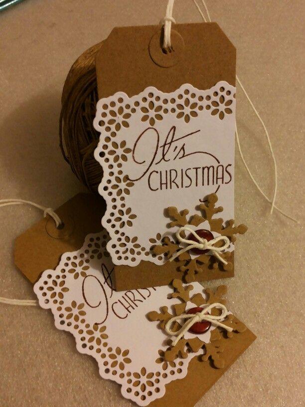 Christmas 2014, tag, shabby style, by ricciocraft