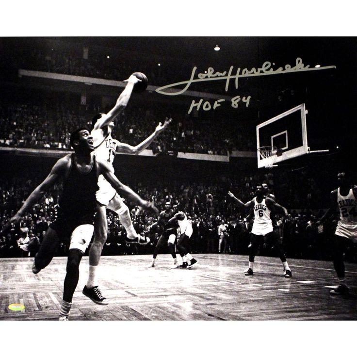 John Havlicek Signed Steal B/W 16x20 Photo w/ HOF insc