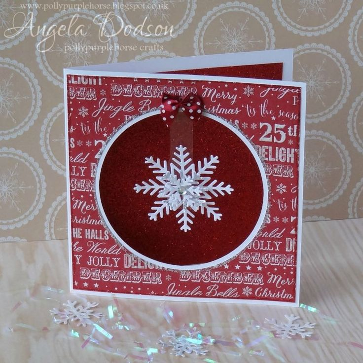 Sparkly Dangly Snowflake Card with FE Christmas