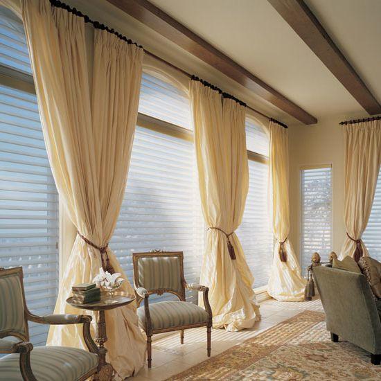 Как использовать бежевые занавески в декоре квартиры? В чем достоинства и недостатки бежевых портьер? Бежевые шторы фото -примеры.