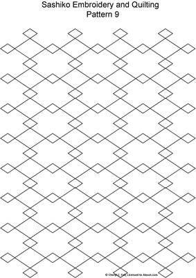 FREE Sashiko Embroidery Patterns - Set2