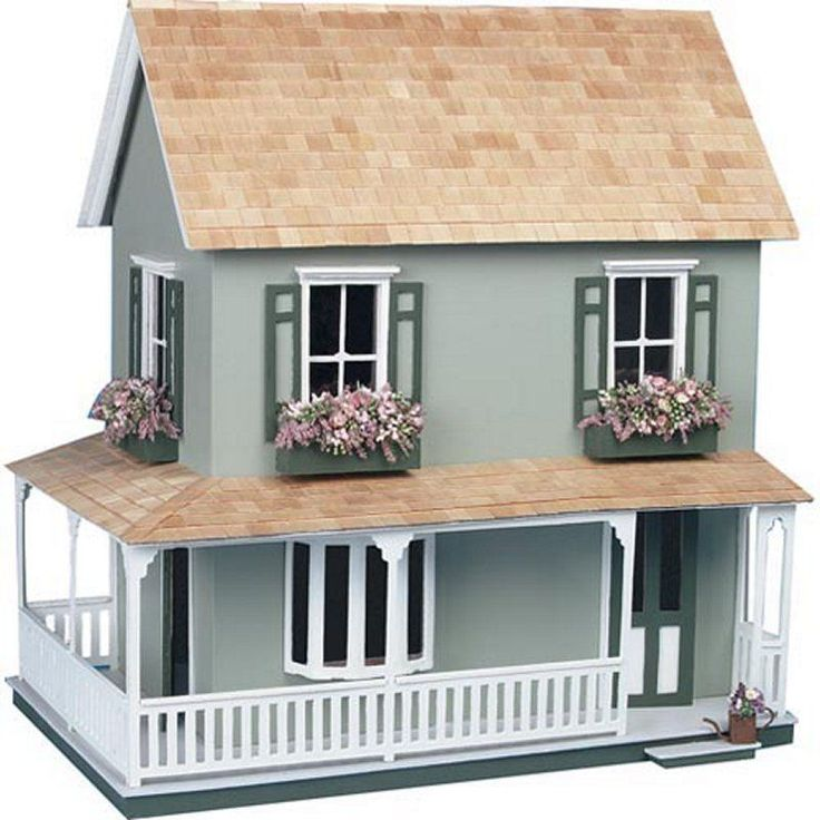 Large Wooden Doll House Vintage Cottage Kit Wood Dollhouse DIY Mansion Girls #LargeWoodenDollHouse