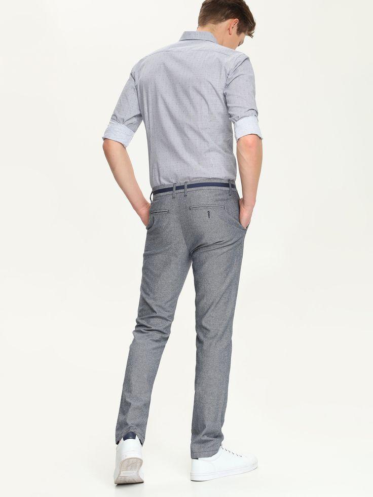 Spodnie męskie szare - SSP2149 spodnie długie - TOP SECRET - Odzieżowy sklep internetowy TOP SECRET