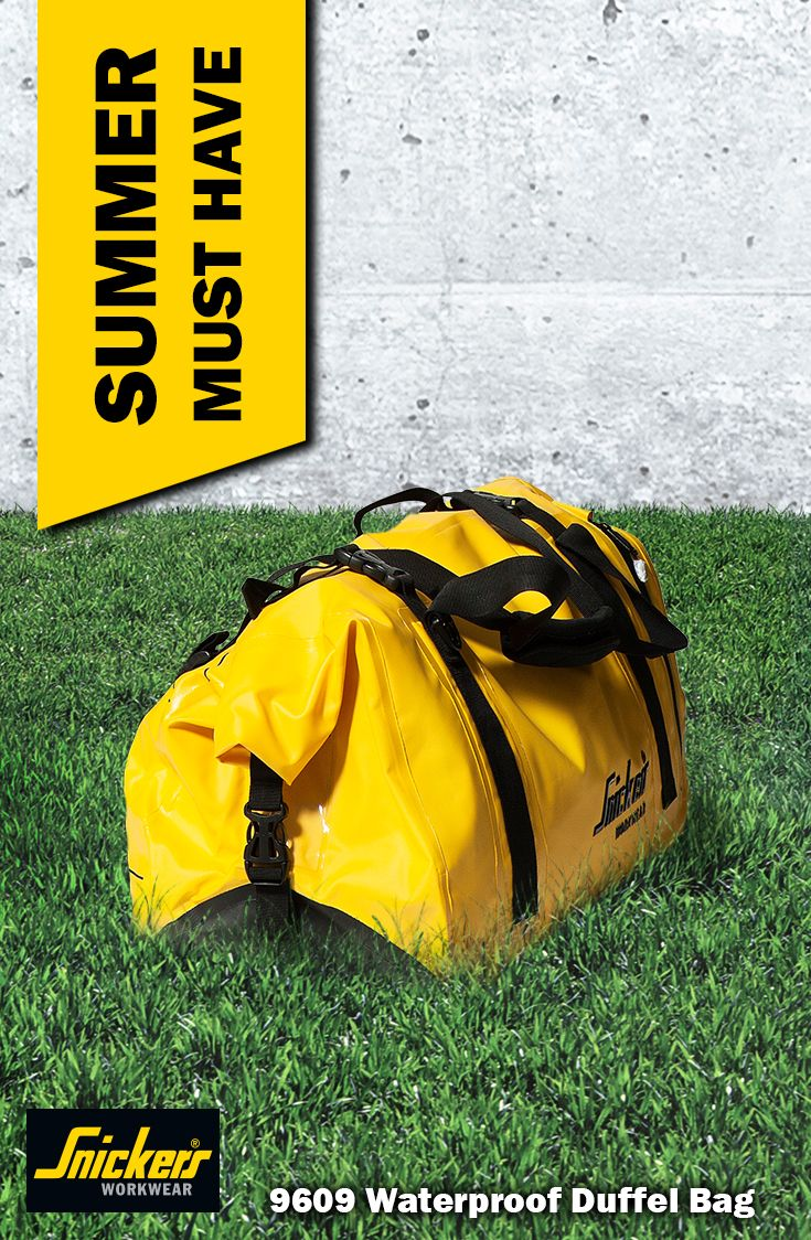 Pack your bags! You are going to have a great summer with this large (40 litres!) duffel #bag that is #waterproof. Store your workwear or pack for your holiday and know it will stay dry. With inside and outside compartment.