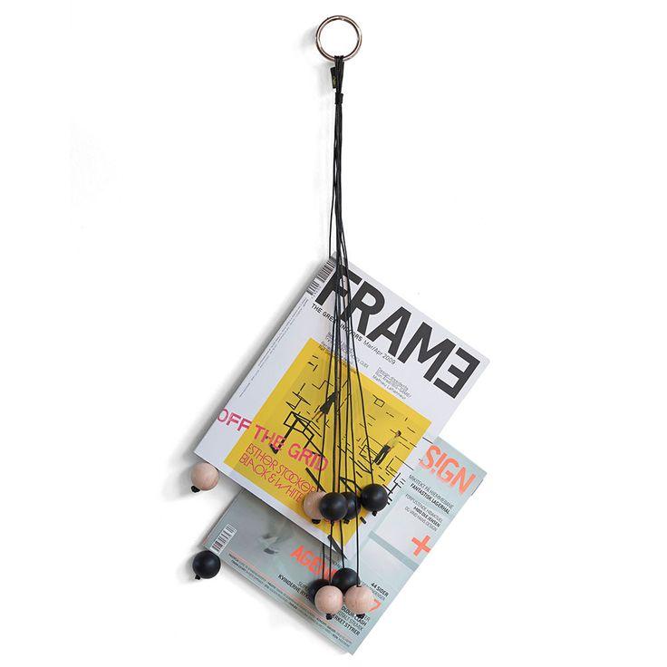 Magazine Hang Out Zeitungsständer, Schwarz - Signe Wirth Engelund - by Wirth - RoyalDesign.de