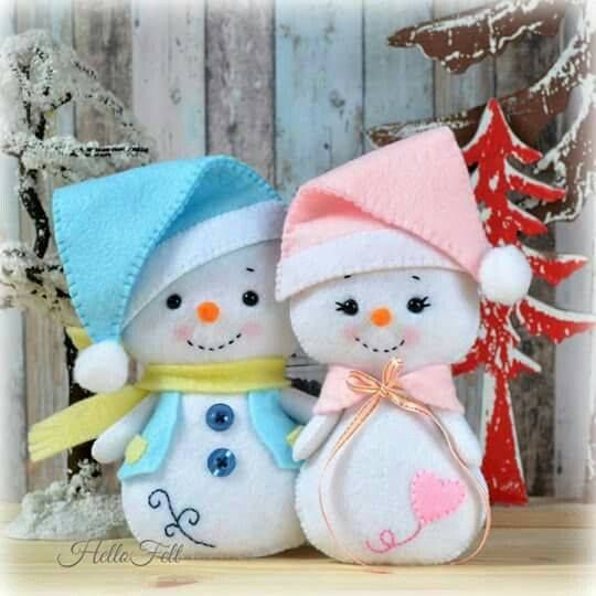 Boneco de neve com molde