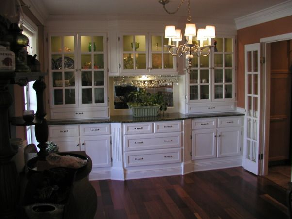 China Storage Cabinet Built In With Plenty Of All Wood Granite Top And Lighted Glass Shelves The Dining Table Has Been