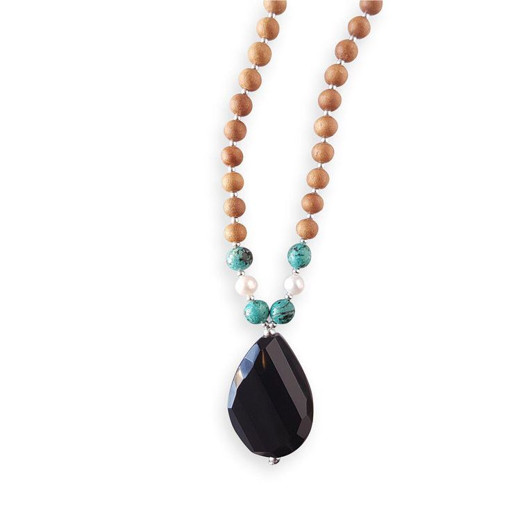 The Confident Mama Mala encourages you to embrace yourself as you are with the realization that, even through your perceived flaws and missteps, your inner beauty and light will always find a way to shine through. Onyx imparts strength, happiness and good fortune while helping you to see yourself in a more positive light. Turquoise Jasper promotes healing and inner calm while Pearls connect you to the earth and the cycles of the moon encouraging emotional balance and spiritual…
