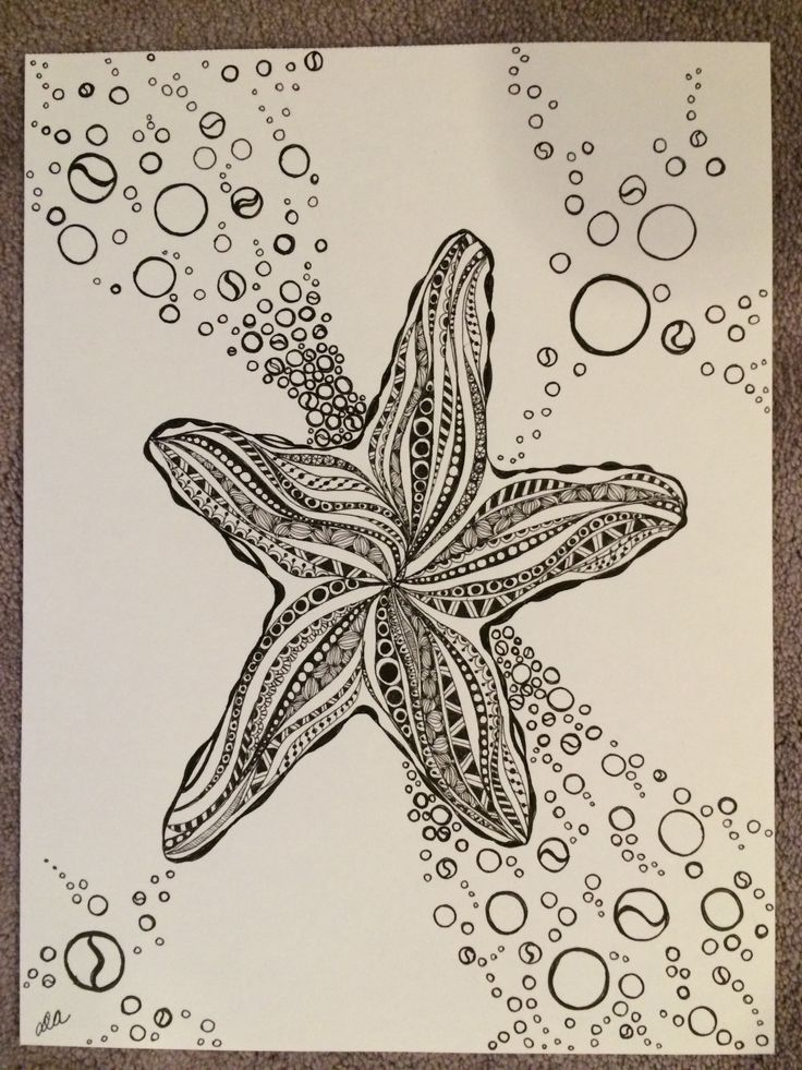 Zentangle Starfish for Tracey | My Zentangles | Pinterest ...