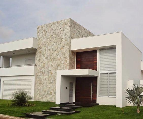 30 Fachadas de casas com pedras – veja diferentes tipos e tendências!: