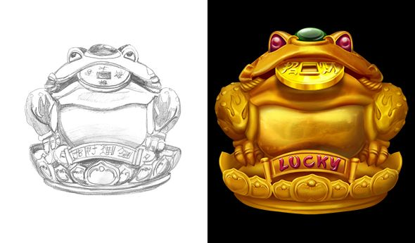 """Graphic design of symbol for the game slot machine """"Fortune keepers"""" http://artforgame.com/"""